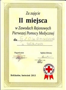 pierwsza pomoc 2013